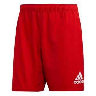 adidas 3 Stripe Rugby Shorts RED/WHITE