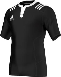 adidas 3 Stripes Fitted Rugby Jersey B