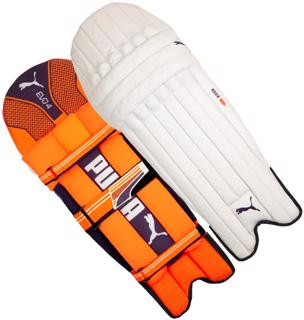 Puma EVO 4 ORANGE Batting Pads JUNIOR