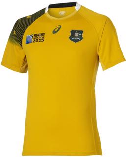 Asics RWC2015 Wallabies Home Rugby Shirt