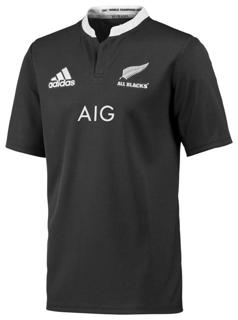 adidas All Blacks Short Sleeve Rugby J