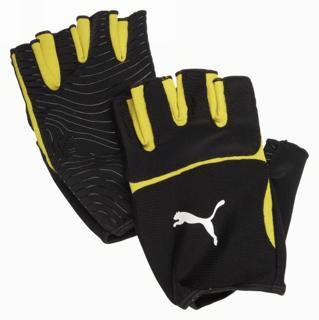 Puma V-Konstrukt Rugby Gloves, Black/Yel