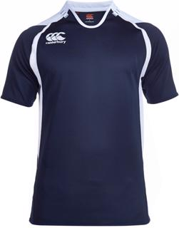 Canterbury Challenge Rugby Shirt, NAVY/W