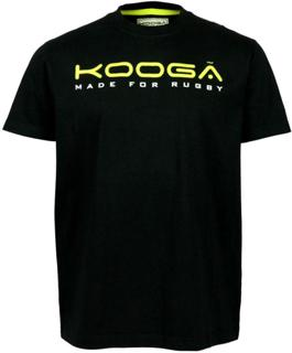 Kooga Large Logo T-Shirt BLACK/VOLT