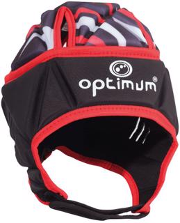 Optimum Razor Rugby Headguard BLACK/RED