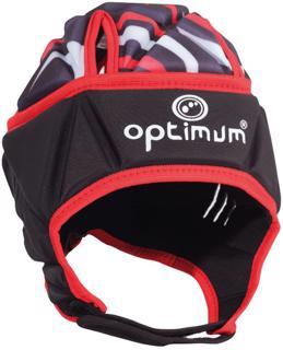 Optimum Razor Rugby Headguard BLACK/RED