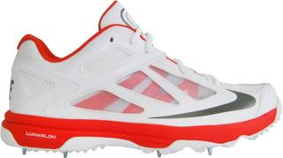 Nike Lunar Dominate Cricket Shoe RED/GRE