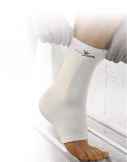 Elasticated ankle support.