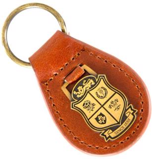 Lions Rugby Leather Fob Keyring