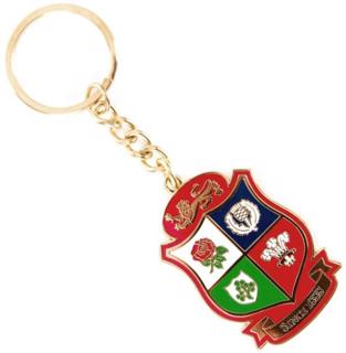 Lions Rugby Shield Logo Keyring