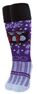 Wacky Sox Perky Penguin Purple