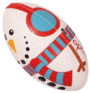 Optimum Christmas SNOWMAN Rugby Ball