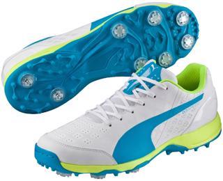Puma evoSpeed 1.4 Cricket Shoes WHITE/BL