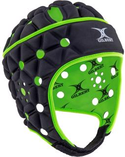 Gilbert Air Rugby Headguard JUNIOR BLACK