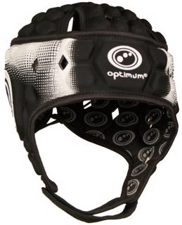 Optimum Atomik Rugby Headguard BLACK