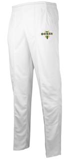 Dukes Bright White Cricket Trousers