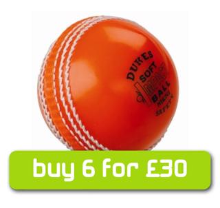 Dukes ORANGE Soft Impact Safety Cricket%