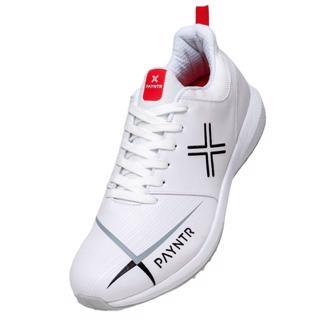 Payntr V Pimple Cricket Shoes WHITE