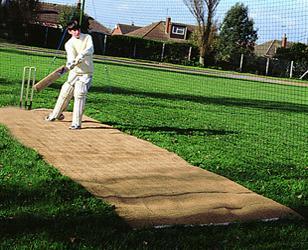 Coconut matting, 8.3 metres.  BROWN