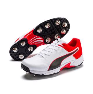 Puma Cricket 19.2 Spike Shoe WHITE/RED