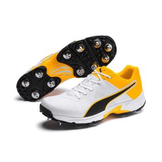 Puma 19.1 Cricket Spike Shoe WHITE/ORANG