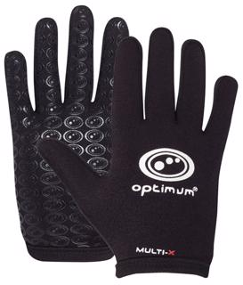 Optimum Multi-X Rugby Gloves BLACK JUNIO