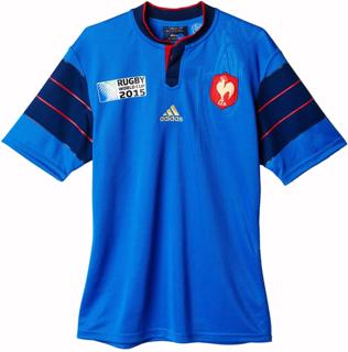 adias France RWC 2015 Home Jersey