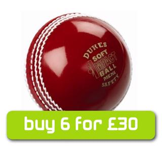Dukes RED Soft Impact Safety Cricket B