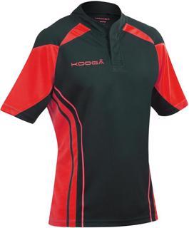 Kooga Stadium Match Rugby Shirt BLACK/RE