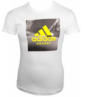 adidas Womens Hockey Graphic Logo Tshirt