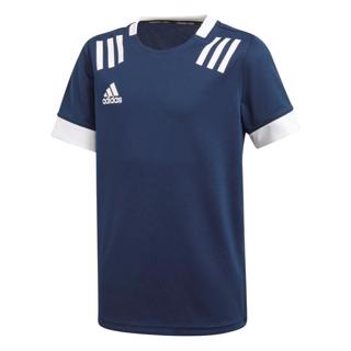 adidas 3 Stripe Rugby Jersey NAVY/WHITE%